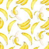 Watercolor vector banana pattern - 140168489
