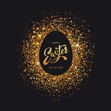 Easter Symbol On Luxury Black ...
