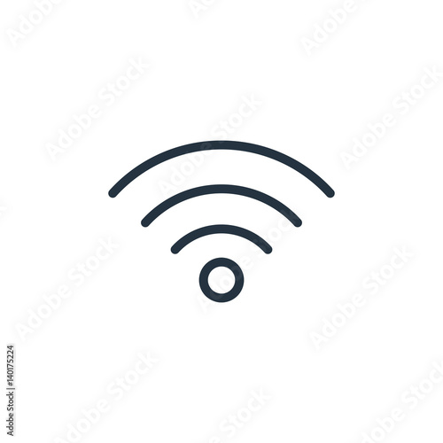 Cuadros en Lienzo  wifi line icon on white background