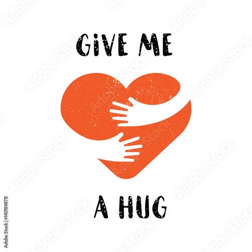 Canvas-taulu Hug yourself logo