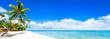 Strand Panorama mit türkisblauem Meer