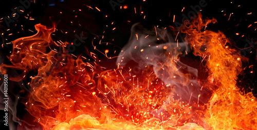 Firestorm texture Canvas Print