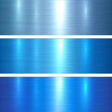 Metal Textures Blue Brushed Metallic Background