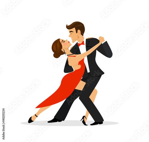 Couple dancing tango Wallpaper Mural