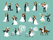 Wedding Couple Set, Bride And ...