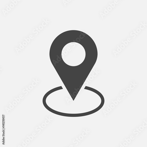 Fotografia, Obraz  Pin icon vector