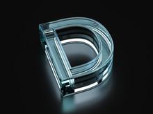 Glass Letter D