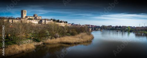 Zamora catedral panorámica ciudad con el río Duero
