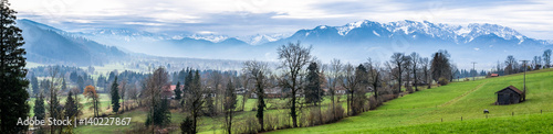 Papiers peints Gris european alps
