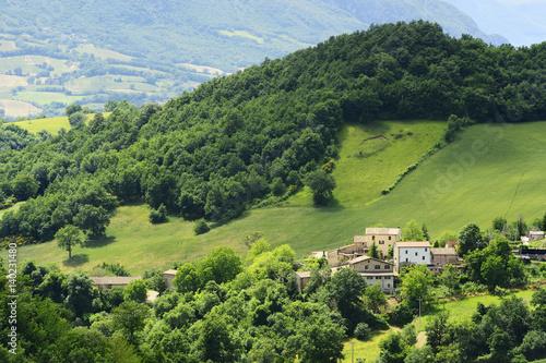 In de dag Lime groen Picturesque landscape in Marche Italy