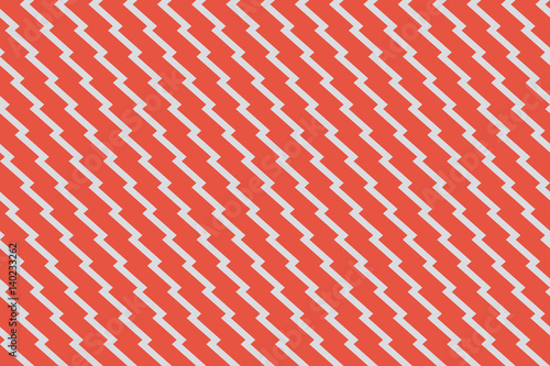 fototapeta na szkło Seamless red and gray unusual zig zag pattern vector