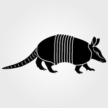 Armadillo Icon Isolated On Whi...
