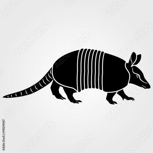 Photo Armadillo icon isolated on white background.