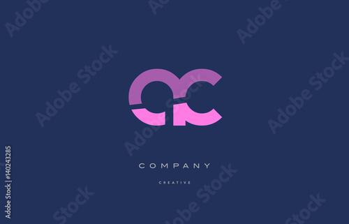 ac a c  pink blue alphabet letter logo icon Wallpaper Mural