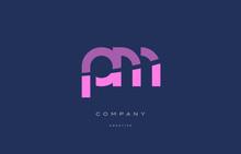 Pm P L  Pink Blue Alphabet Let...