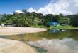 Repubblica di Trinidad e Tobago - Tobago - Parlatuvier bay - Stagno e riflessi