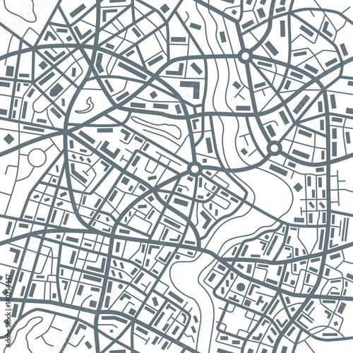 Plakat Miasto mapy abstrakcjonistyczny bezszwowy wzór - ilustracja