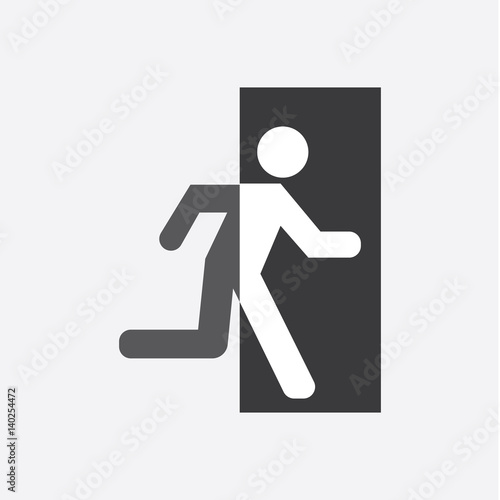 Exit Icon Vector Wall mural