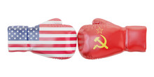 Boxing Gloves With USA And USS...