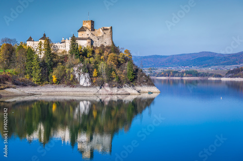 Fototapeta Beautiful view of Niedzica castle, Poland, Europe obraz na płótnie