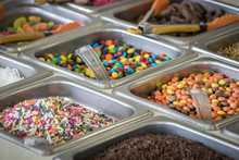 Colorful Candy Ice Cream Toppings