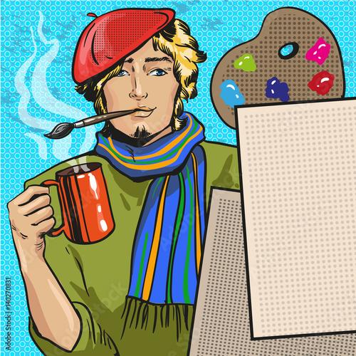 ilustracja-wektorowa-malarza-w-komiks-stylu-retro-pop-art