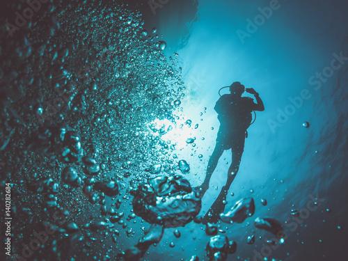 Valokuva  Diver silhouette