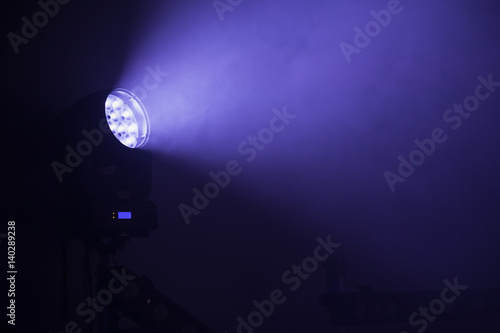 Stage LED spot light with blue beam - Buy this stock photo and