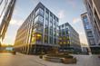 Leinwanddruck Bild - Modern office building in the evening