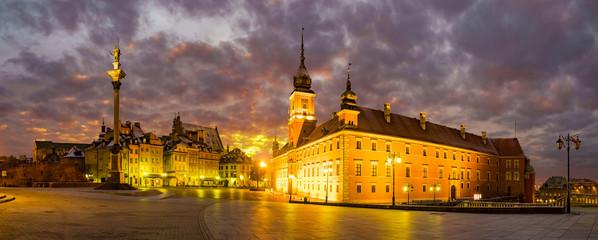 Fototapeta na wymiar Royal Castle in Warsaw, rebuilt in the seventies from the devastation of war.