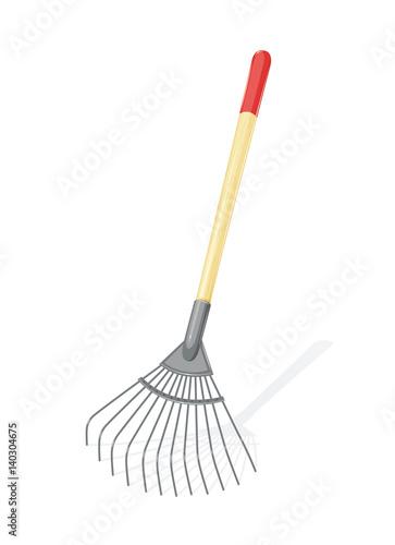 Fotografía Garden rake Agriculture tool. Ground Cultivator. Housekeeping
