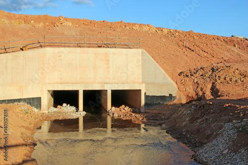 Fotografia, Obraz  Culvert on a construction site