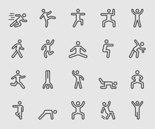 Human Action Line Icon