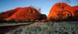 canvas print picture - Australia Landscape : Red rock of Alice Spring, Yulara, Mutitjulu