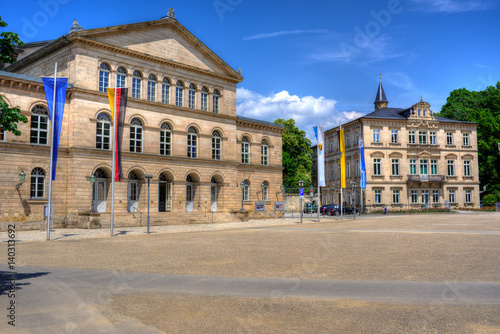 Foto auf Leinwand Oper / Theater Schlossplatz mit Landestheater Coburg in Oberfranken