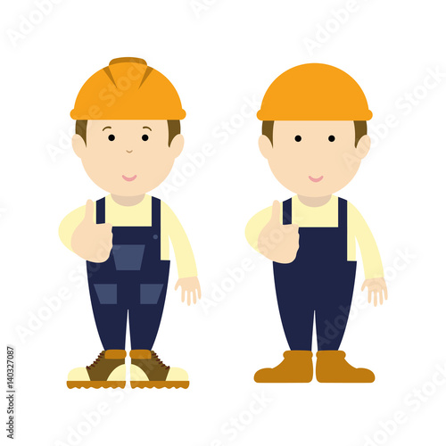 road builder man funny cartoon handyman handyman wearing work