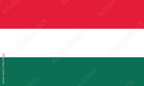 Fotografia  Amazing flag of Hungary