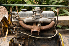 Old And Rusty Engine.