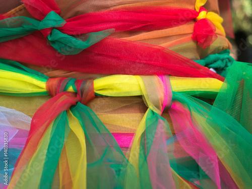 Deurstickers Paradijsvogel colorful ribbon for pray