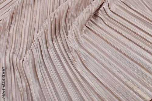 Fotografie, Tablou Soft pink pleated fabric. Plisse fabric texture  background.