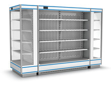Several Refrigerators With Ope...