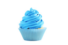 Tasty Cupcake Isolated On A White