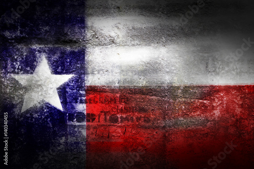Poster Texas Grunge Texas USA flag on stone texture background