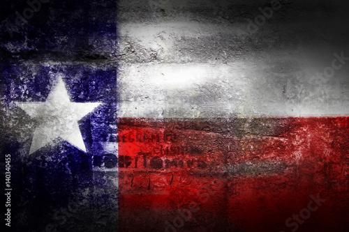 Foto op Plexiglas Texas Grunge Texas USA flag on stone texture background
