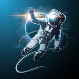 astronaut in space illustration - 140341650