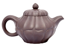 Chocolate Brown Ceramic Teapot. Isolated.