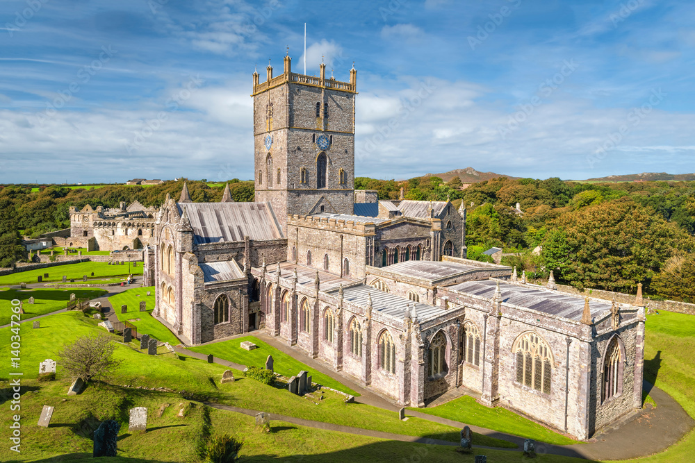 Fototapety, obrazy: St Davids cathedral in South Wales