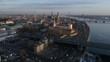 Old Riga Town sunset 4K 50fps