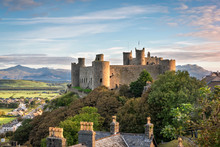 Harlech Castle At Sunrise