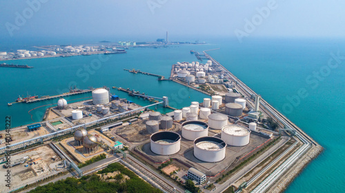 Photo  Aerial view Oil refinery